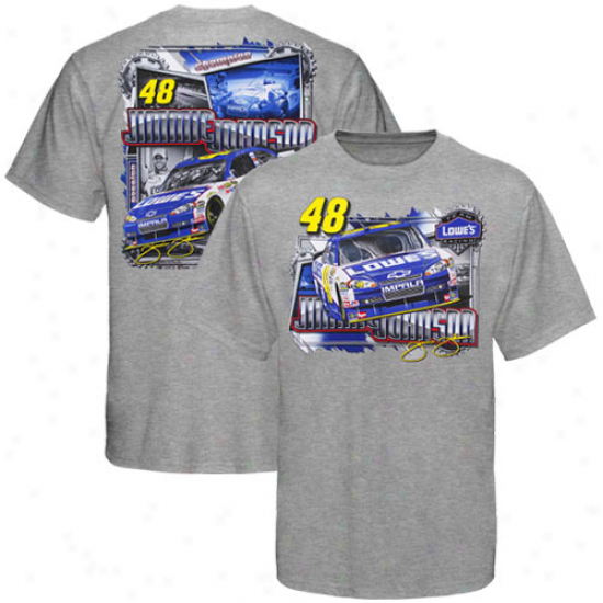 Jimmie Johnson Tshirt : #48 Jimmie Johnson Ash Draft Tshirt
