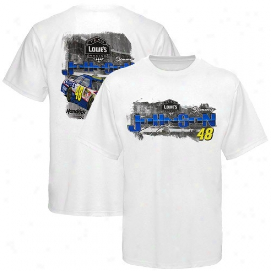 Jimmie Johnson Tshirt : #48 Jimmie Johnson White Experience Tshirt
