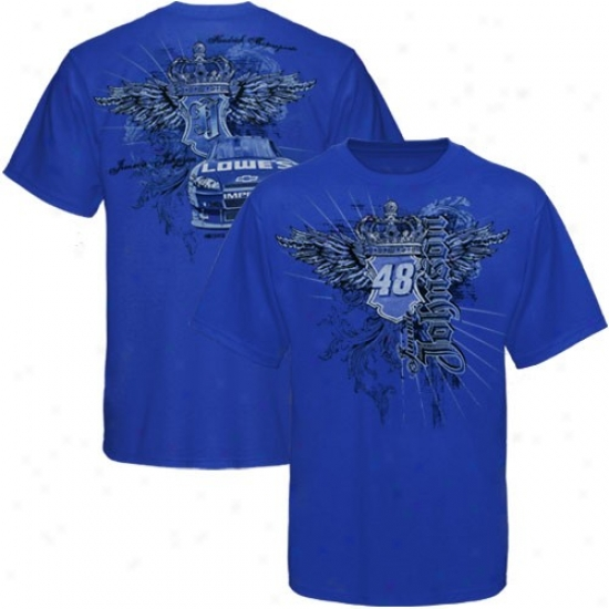 Jimmie Johnson Tshirts : #48 Jmmie Johnson Royal Blue Crown Tshirts