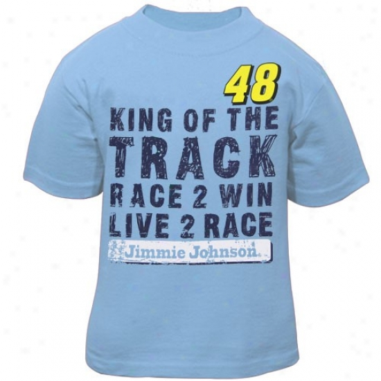 Jimmie Johnson Tshirts : #48 Jimmie Johnso nToddler Light Blue Win Tshirts