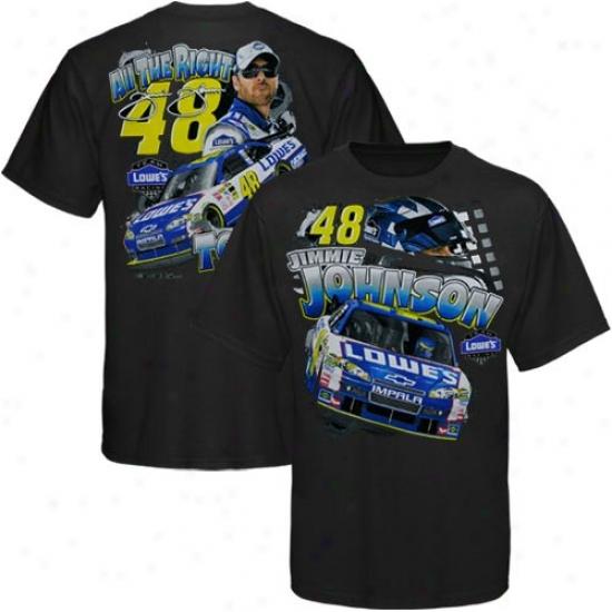 Jimmie Johnson Tshirts : #48 Jimmie Johnson Youth Blaxk All The Right Tools Tshirts
