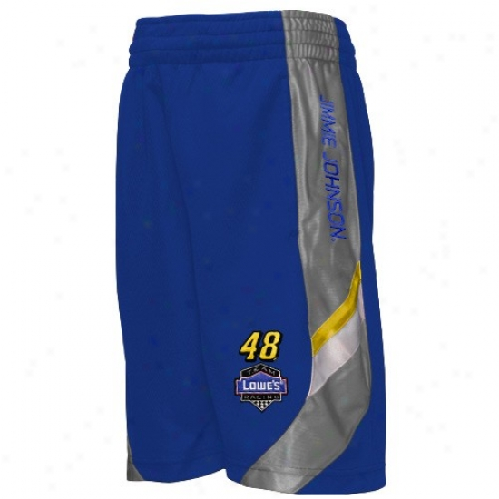 Jimmie Johnson Youth Royal Blue End Line Mesh Shorts