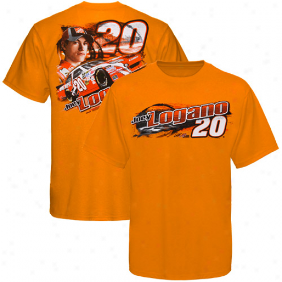 Joey Logano Attire: Joey Logano Orange Draft T-shirt