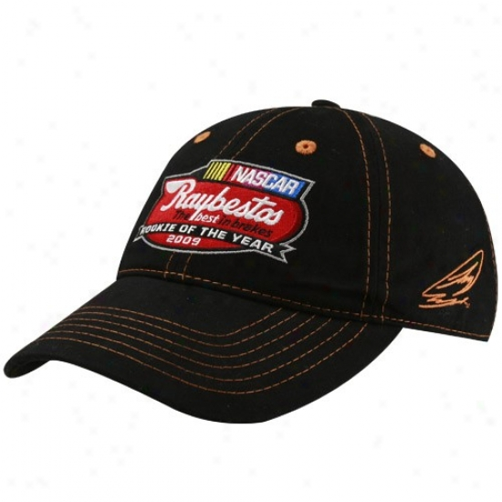 Joey LoganoG ear: #20 Joey Logano Black 2009 Nascar Raybestos Rookie Of The Year Adjustable Hat
