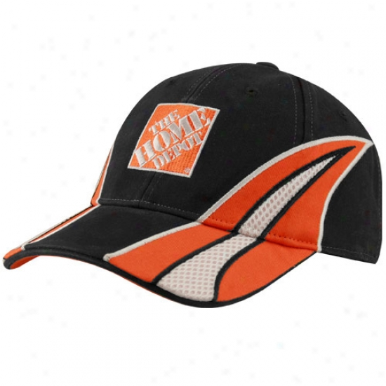 Joey Logano Hats : #20 Joey Logano Black Driver Pit Adjustable Hats