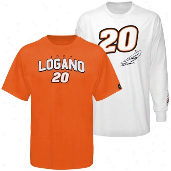 Joey Logano Shirt : #20 Joey LoganoO range-white 3-in-1 Shirt Combo Pack