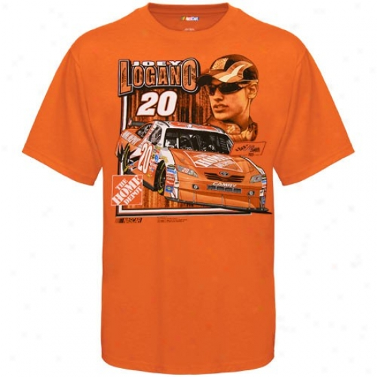 Joey Logano Shirts : #20 Joey Logank Orange Race 2 Reach Shirts