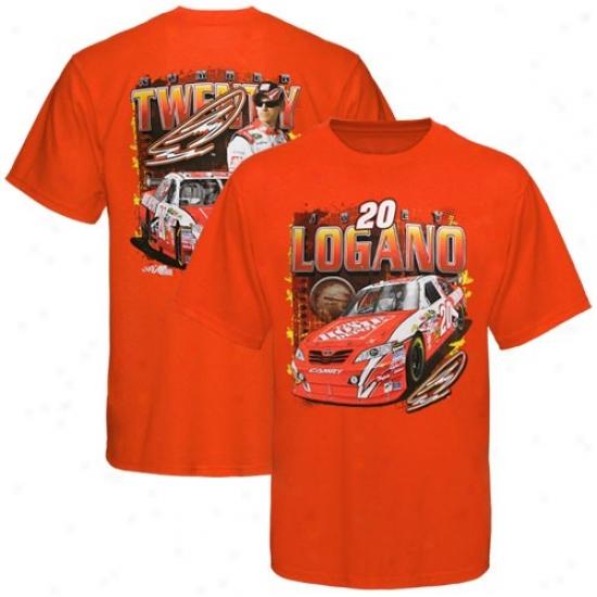 Joey Logano T Shirt : #20 Joey Logano Orznge Number Twenty T Shirt