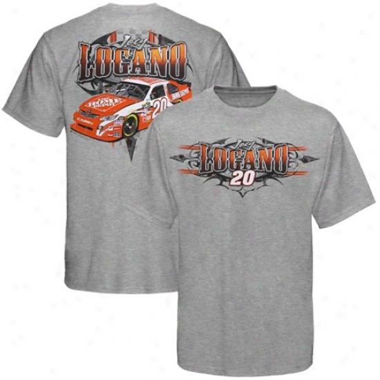 Joey Logano Tshirts : #20 Joey Logano Ash Tribal Tshirts