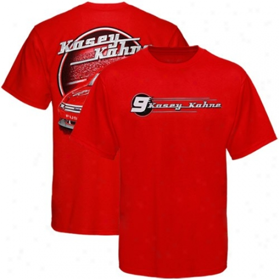 Kasey Kahne Apparel: #9 Kasey Kahne Red Budweiser Fusion T-shirt