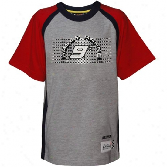 Kasey Kahne Apparel: Reebok Kasey Kahne Youth Ash Speedway T-shirt