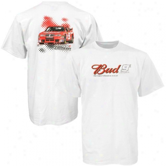 Kasey Kahne Attire: #9 Kasey Kahne White End Of Season T-shirt