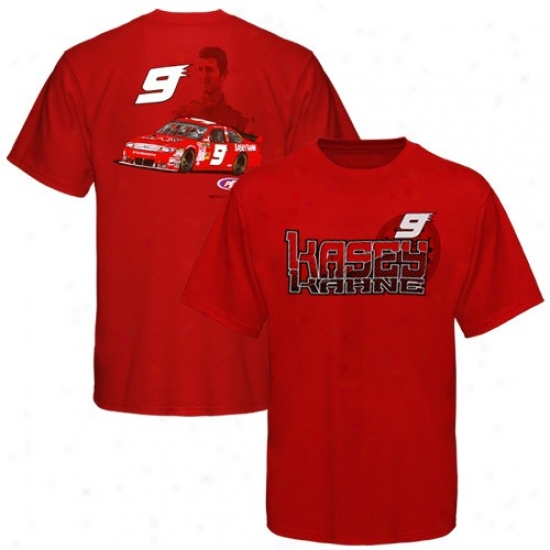 Kasey Kahne Attire: #9 Kasey Kahne Youth Red Speedometer T-shirt