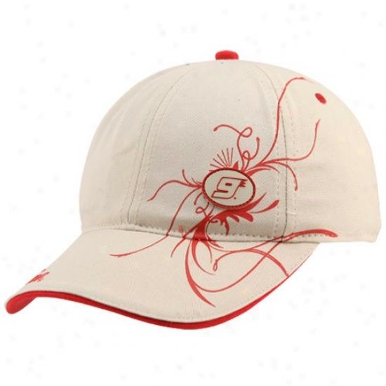 Kasey Kahne Gear: #9 Kasey Kahne Laeies Khaki Flourished Adjustable Slouch Hat
