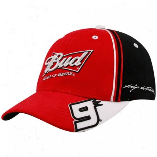Kasey Kahne Hat : #9 Kasey Kahne Black-red All Gears Flex Fit Hat