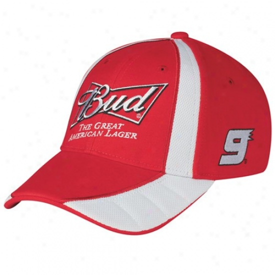 Kasey KahneH at : #9 Kasey Kahne Red Driver Pit Adjustabls Hat