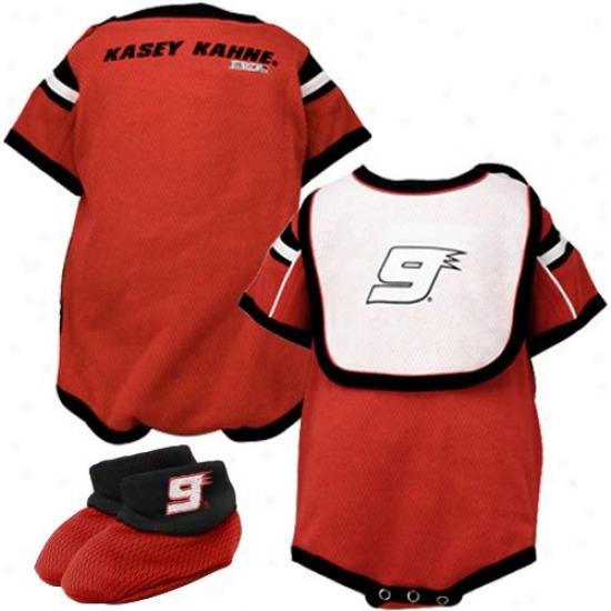 Kasey Kahne Red Infant Speedway Mesh Bib & Booties Set