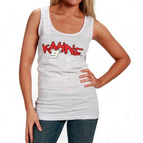 Kasey Kahne Shirt : #9 Kasey Kahne Ladies White Speed Tank Top