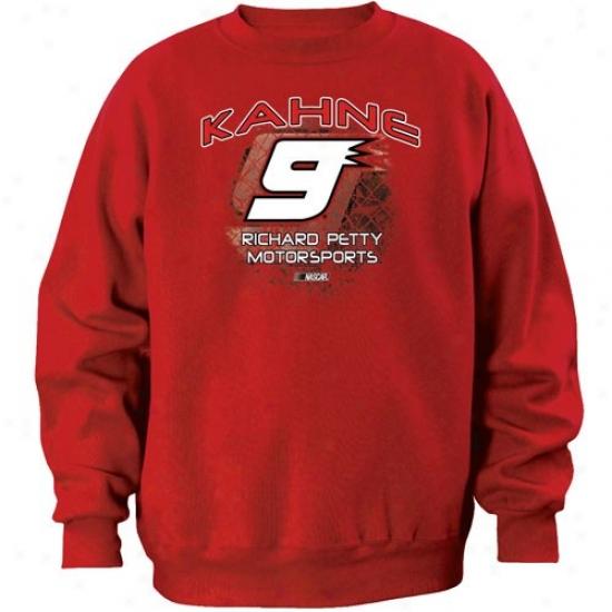 Kaey Kahne Stuff: #9 Kasey Kahne Red Aero Push Crew Sweatshirt