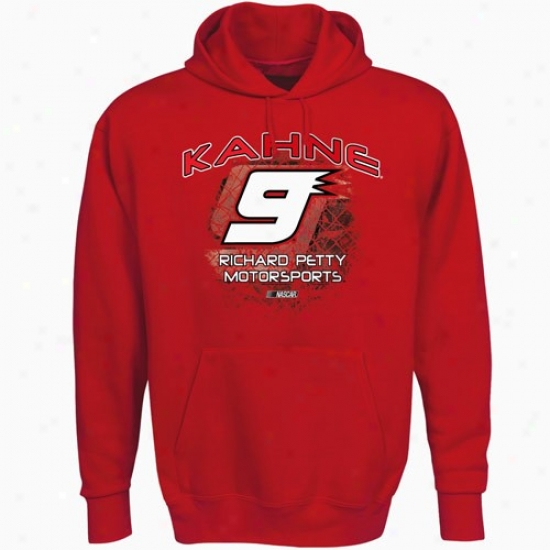 Kasey Kahne Sweat Shirt : #9 Kasey Kahne Red Aero Prosecute Sweat Shirt