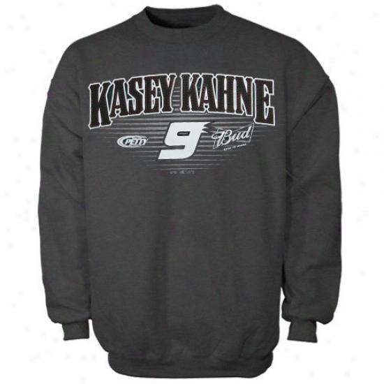 Kasey Kahne Sweatshirts : #9 Kasey Kahne Gray Basic Crew Sweatshirts