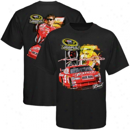 Kasey Kahne T-shirt : #9 Kasey Kahn eBlack Chase For The Sprint Cup 2009 T-shirt