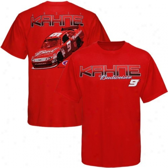 Kasey Kahne T-shirt : #9 Kasey Kahne Red Front And Back T-shirt