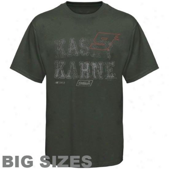 Kasey Kahne Tees : #9 Kasey Kahne Gray Pigment Dyed Big Sizes Tees