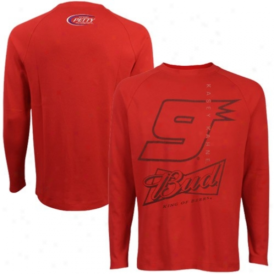 Kasey Kahne Tees : #9 Kadwy Kahne Red Premium Thermal Tees