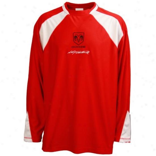 Kasey Kahne Tshirts : #9 Kasey Kahne Red Big Time Long Sleeve Tshirts