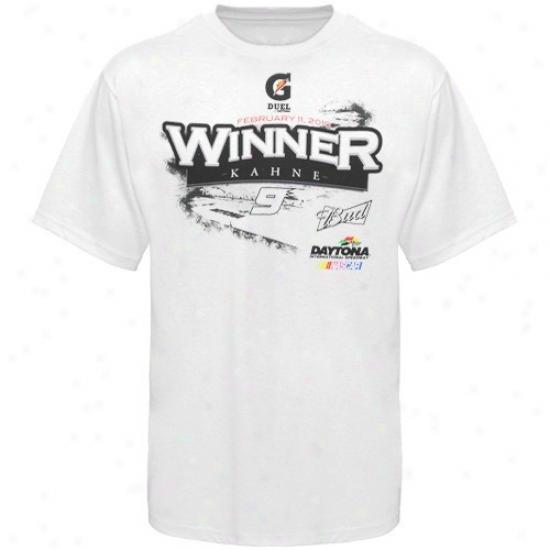 Kasey Kahne Tshirts : #9 Kasey Kahne White Duel 2 Winner Tshirts
