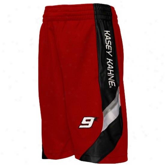 Kasey Kahne Youth Red Accomplish Line Mesh Shorts