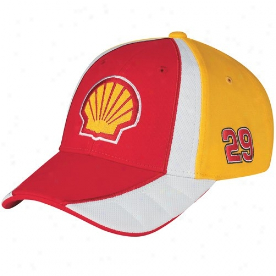 Kevin Harvick Commodities: #29 Kevi nHarvick Youth Red-gold Adjustable Pit Hat