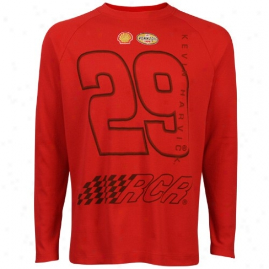 Kevin Harvick Shirts : #29 Kevin Harvick Red Thermal A ~ time Sleeve Shirts