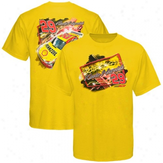 Kevin Harvick Tee : #29 Kevin Harvick Yellow Marked by ~ity Tee