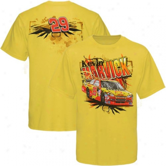 Kevin Harvixkk Tee : #29 Kevin Harvick Youth Gold Team Tee