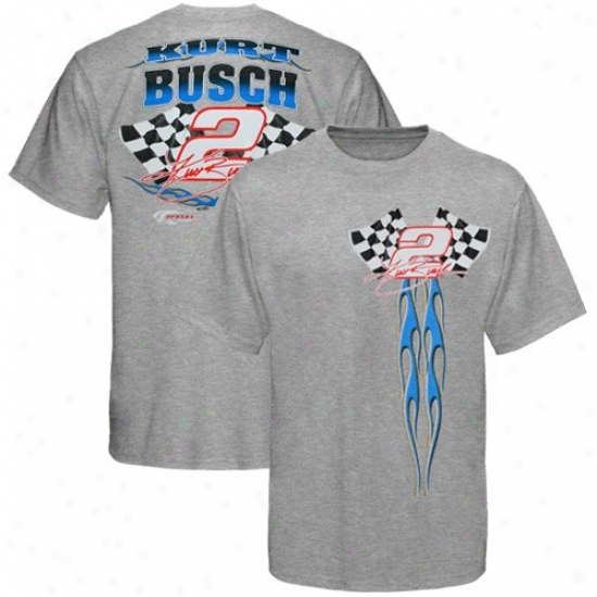 Kurt Busch Shirt : #2 Kurt Busch Ash 1st Out Flmaes Shirt
