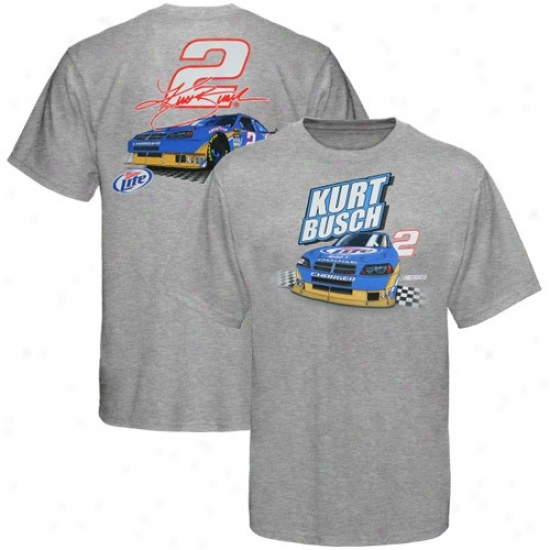 Kurt Busch Tshirts : #2 Kurt Busch Ash Driver Tehirts