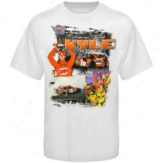 Kyle Busch Apparel: #18 Kyle Busch White Richmond Sweep T-shirt