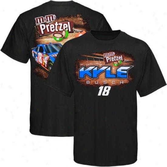 Kyle Busch Apparel: Kyle B8sch Black Pretzel T-shirt
