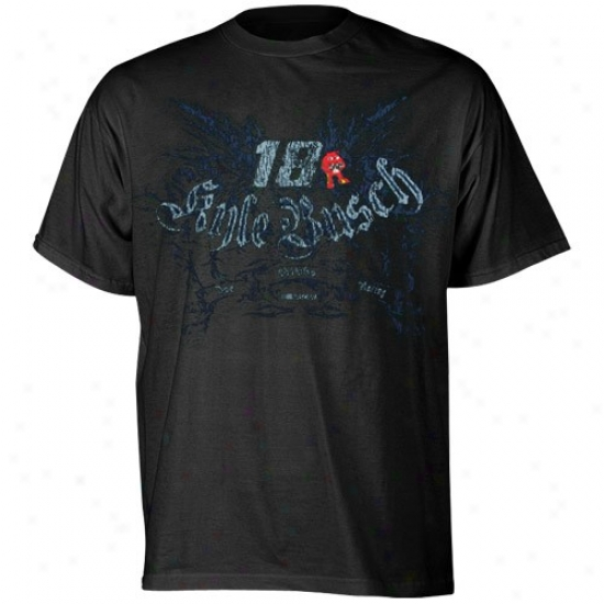 Kyle Busch Attire: #18 Kyle Busch Youth Black Gateway T-shirt
