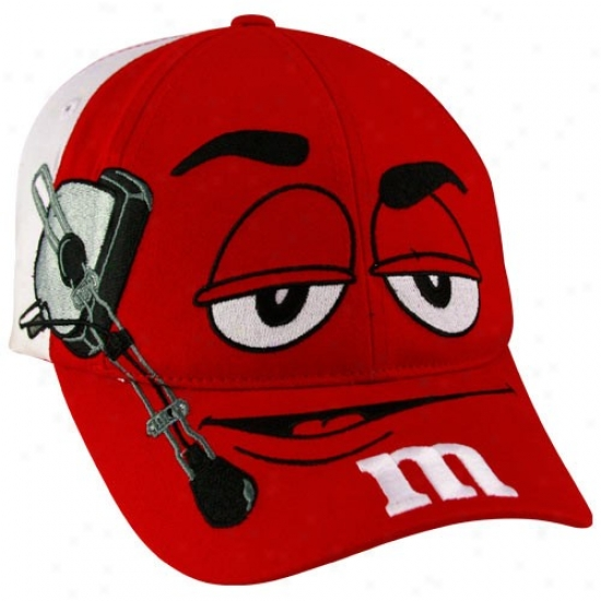 Kyle Busch Cap : #18 Kyle Busch Youth Red-white M&m Character Adjustable Cap