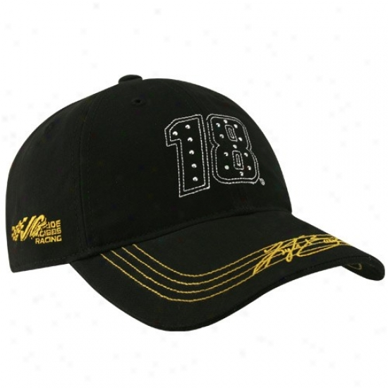 Kyle Busch Gear: #18 Kyle Busch Ladies Black Sparkling Fun Adjustable Hat
