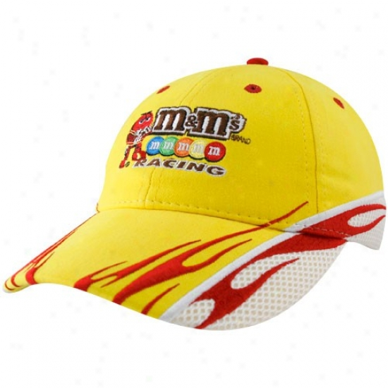 Kyle Busch Hzt : #18 Kyle Busch Gold Sponsor Adjustable Hat