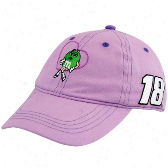 Kyle Busch Hats : #18 Kyle Busch Toddler Girls Lavender Adjustable Hats