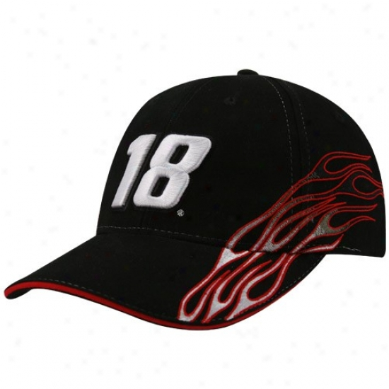 Kyle Busch Merchandise: #18 Kyle Busch Black Flame Adjutable Cardinal's office