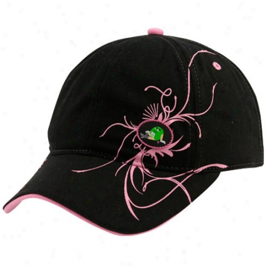 Kyle Busch Merchandise: #18 Ktle Busch Ladies Black Flourished Adjustable Slouch Hat