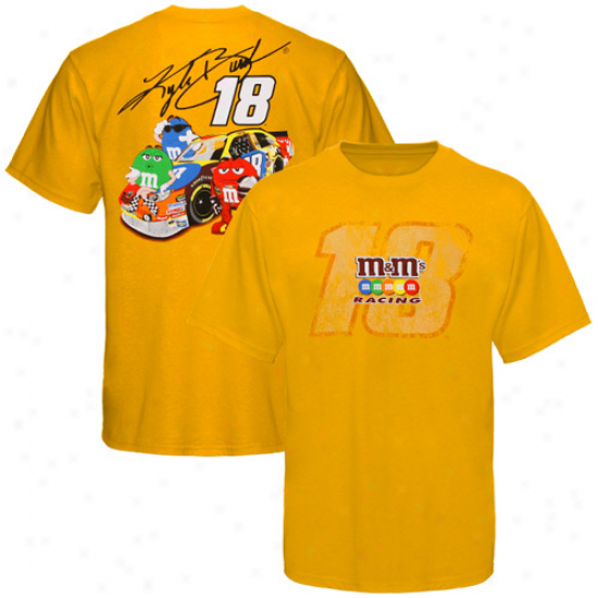 Kyle Busch T-shirt : Kyle Busch Golden Make an outline of T-shirt