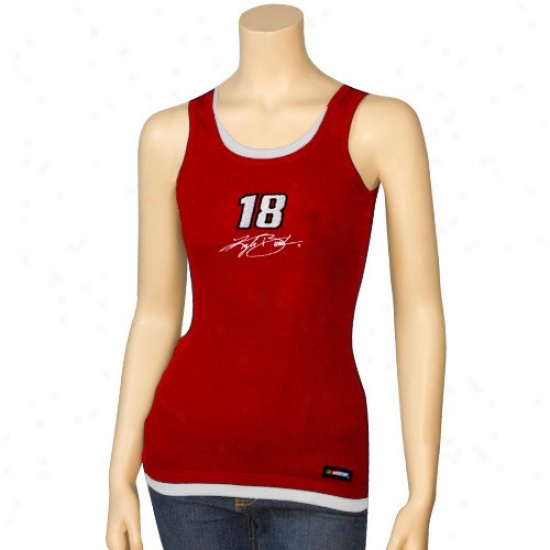 Kyle Busch Tshirt : #18 Kyle Busch Red Harmony Layered Tank Top