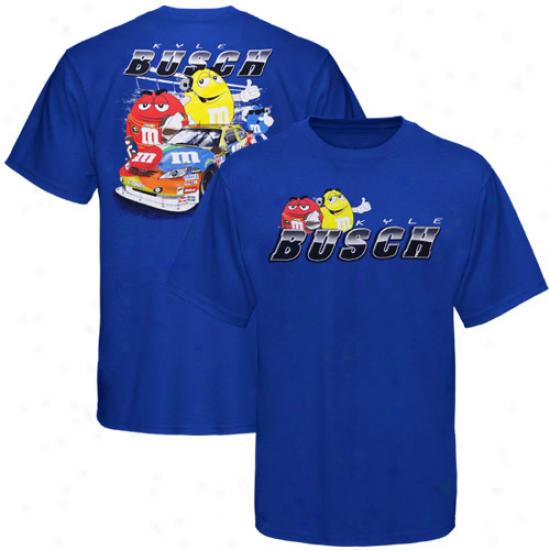 Kyle Busch Tshirt : Kyle Busch Youth Royal Blue Banking Tshirt